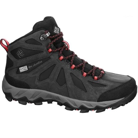 Image of   Columbia Lincoln Pass Mid LTR Outdry Womens, Black / Red