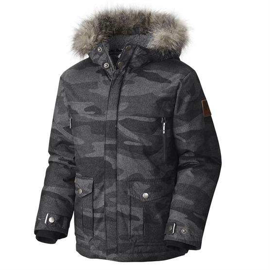 Columbia Barlow Pass Turbodown Jacket Børn, Black Camo