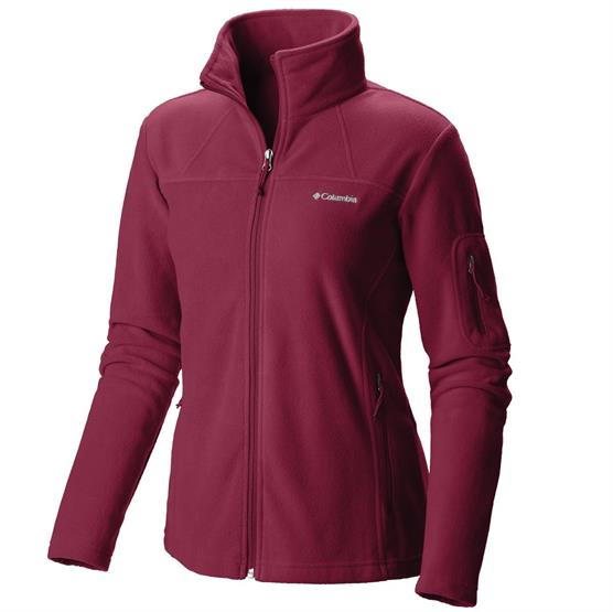 Columbia Womens Fast Trek II Full Zip Fleece, Red Orchid