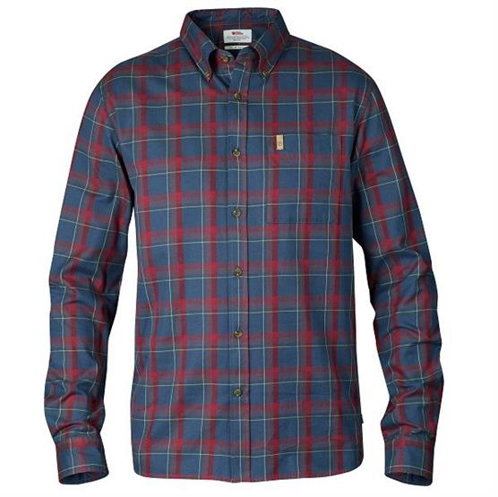 Image of   Fjällräven Övik Flannel Shirt L/S Mens, Navy