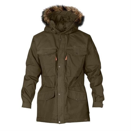 Fjällräven Sarek Winter Jacket Mens, Dark Olive
