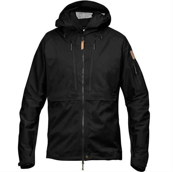 Fjällräven Keb Eco-Shell Jacket Mens, Black thumbnail