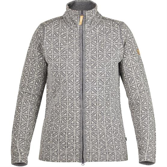 Image of   Fjällräven Övik Frost Cardigan Womens, Dark Grey