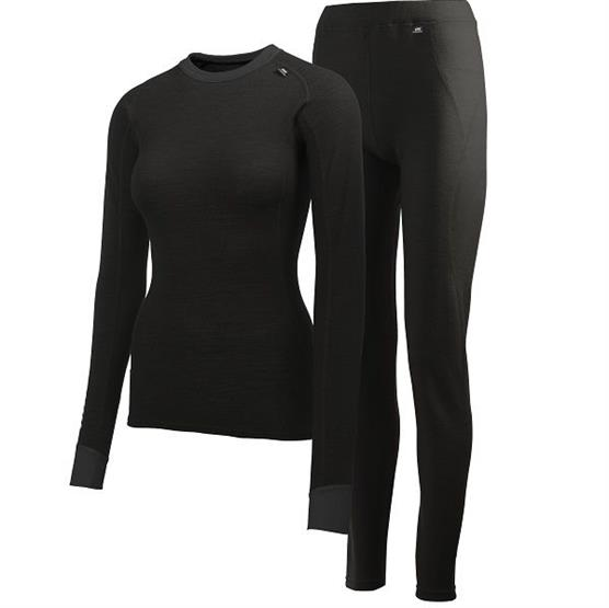Helly Hansen Womens Comfort Wool Set, Black