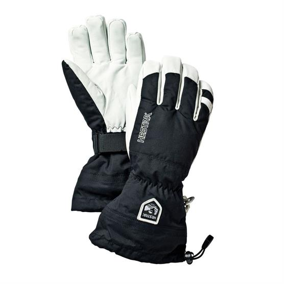 Image of   Hestra Army Leather Ski Glove, Black