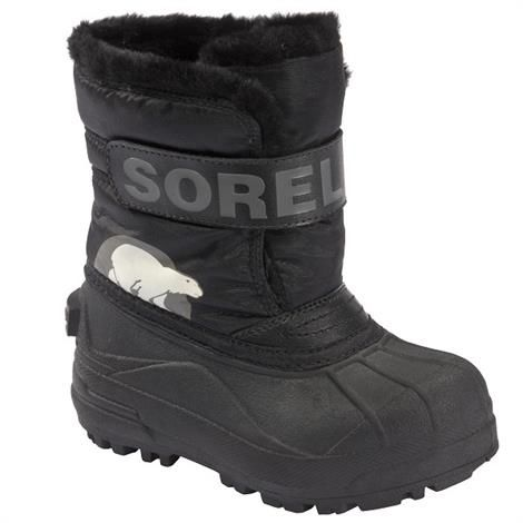 Sorel Snow Commander Børn, Black / Charcoal