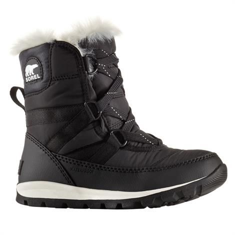 Image of   Sorel Youth Whitney Short Lace Børn, Black / Sea Salt