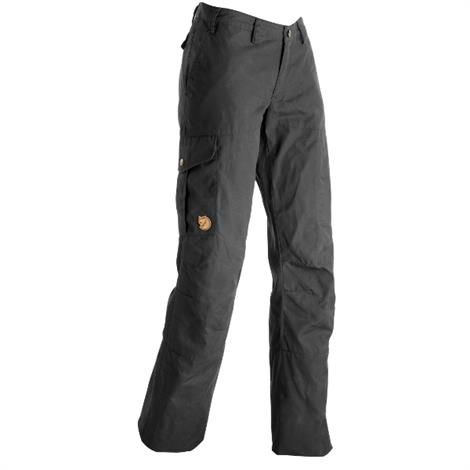 Fjällräven Karla Trousers Womens, Dark Grey
