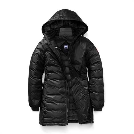 Image of Canada Goose Ladies Camp Hooded Jacket, Black / Black