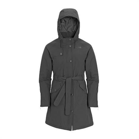 Image of   The North Face Womens Insulated Grace Jacket, Graphite Grey