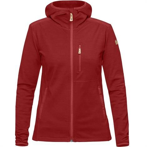 Image of   Fjällräven Keb Fleece Hoodie Womens, Lava