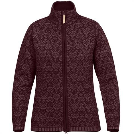 Image of   Fjällräven Snow Cardigan Womens, Dark Garnet