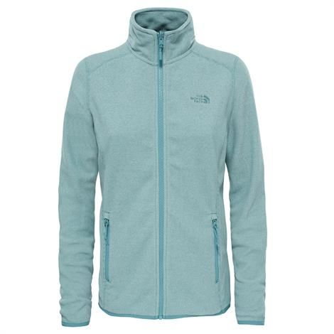 Image of   The North Face Womens 100 Glacier Full Zip, Trellis Green