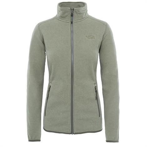 Image of   The North Face Womens 100 Glacier Full Zip, Grape Leaf Stripe