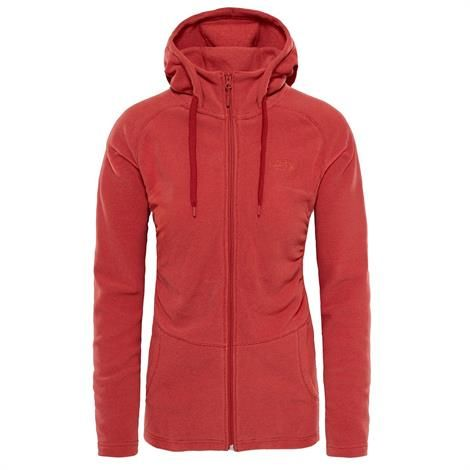 Image of   The North Face Womens Mezzaluna Full Zip Hoodie, Bossa Nova Red