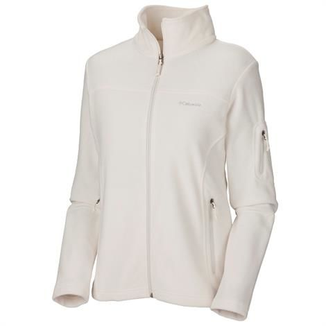 Columbia Womens Fast Trek Ii Full Zip Fleece Jacket, Sea Salt