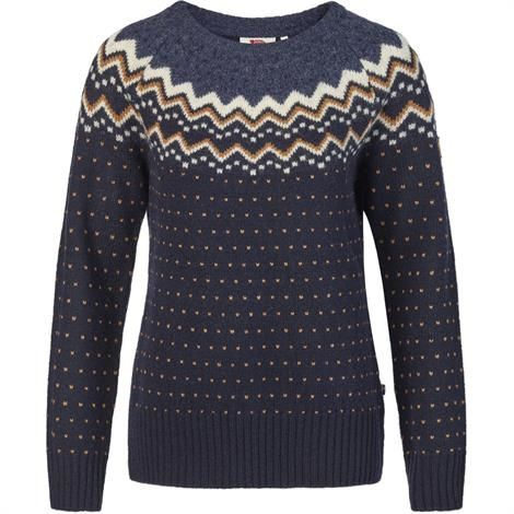 Image of   Fjällräven Övik Knit Sweater Womens, Dark Navy
