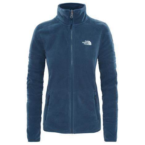 Image of   The North Face Womens 100 Glacier Full Zip, Ink Blue