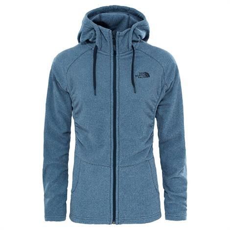 Image of   The North Face Womens Mezzaluna Full Zip Hoodie, Urban Navy Stripe