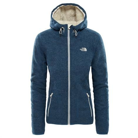 Image of   The North Face Womens Zermatt Hoodie, Blue Wing Teal Heather