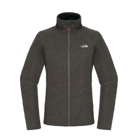 Image of   The North Face Womens Zermatt Full Zip, Heather Grey