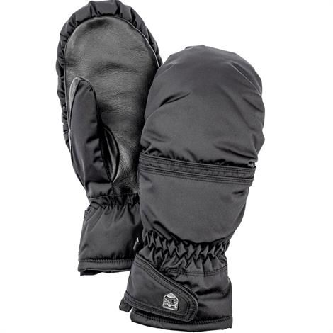 Image of   Hestra Primaloft Leather Mitt Dame, Black