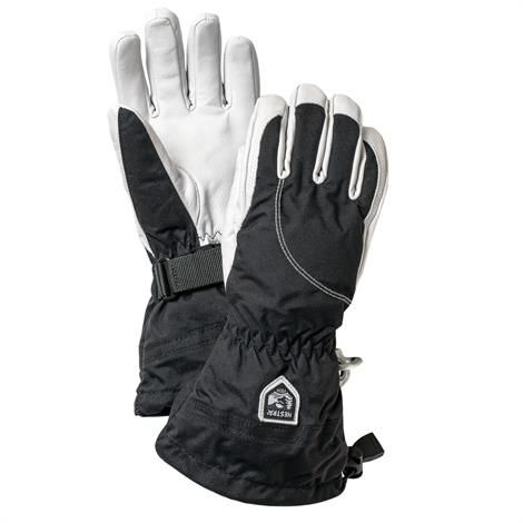 Image of   Hestra Heli Ski Glove Dame, Black / White