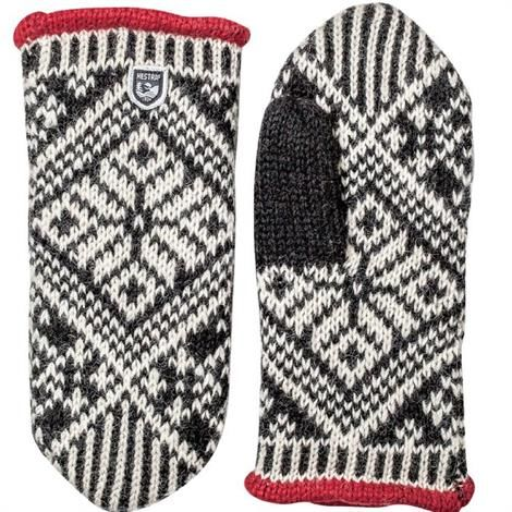 Image of   Hestra Nordic Wool Mitt Unisex, Black / White