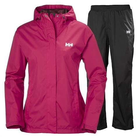 Helly Hansen Womens Portland Rain Set, Persian Red thumbnail
