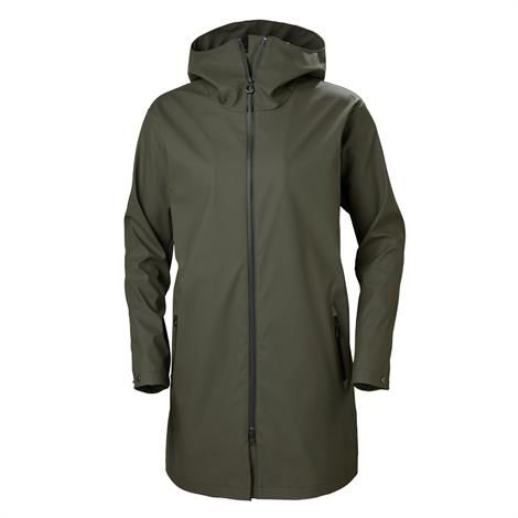 Helly Hansen Womens Copenhagen Raincoat, Beluga thumbnail