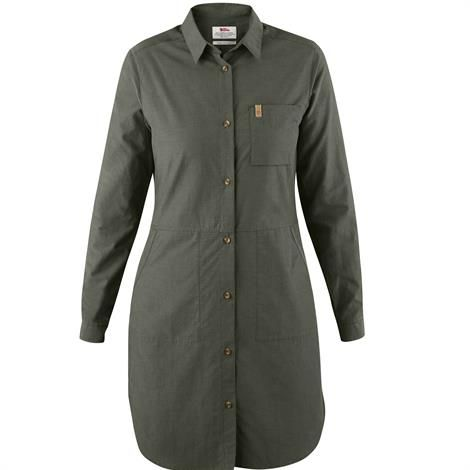 Image of   Fjällräven Övik Shirt Dress Womens, Mountain Grey