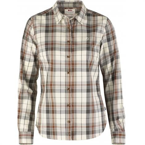 Fjällräven Övik Flannel Shirt Womens, Chalk White