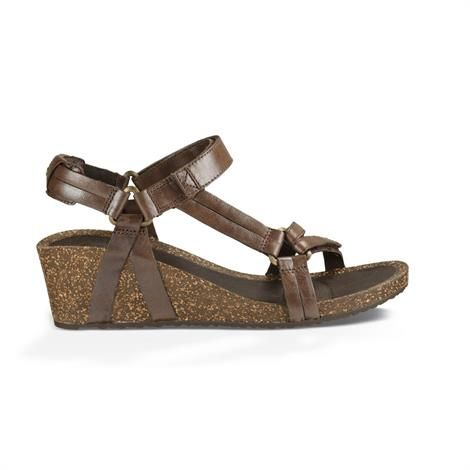 Teva Ysidro Universal Wedge Metallic Dame, Brown Metallic