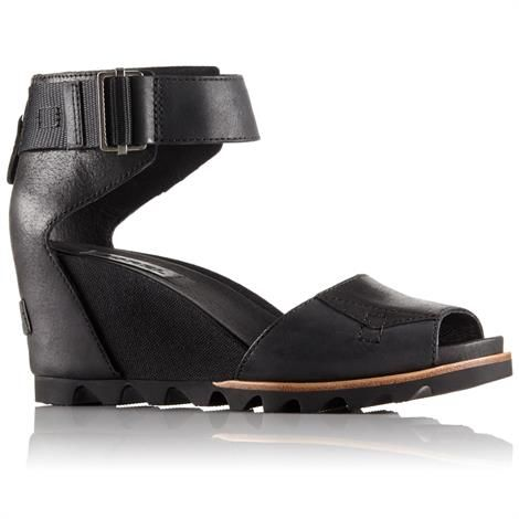 Image of   Sorel Joanie Sandal Dame, Black / Sea Salt