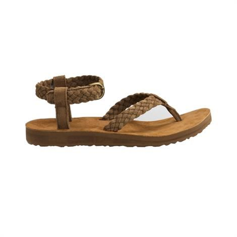 Image of   Teva Original Sandal Suede Braid Dame, Bison