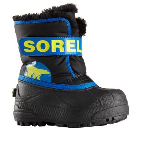 Image of   Sorel Snow Commander Børn, Black / Super Blue