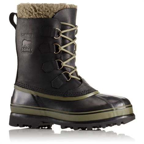 Image of   Sorel Caribou Wool Herre, Black / Nori