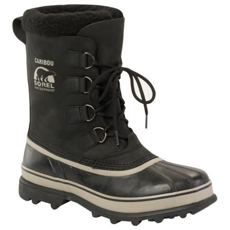 Image of   Sorel Caribou Herre, Black / Tusk