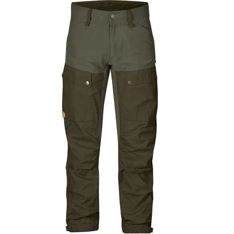 Fjällräven Keb Trousers Mens, Deep Forest / Laurel Green