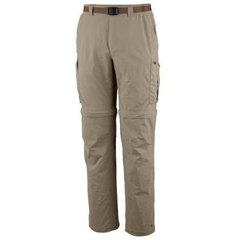 Columbia Mens Silver Ridge Convertible Pant, Tusk