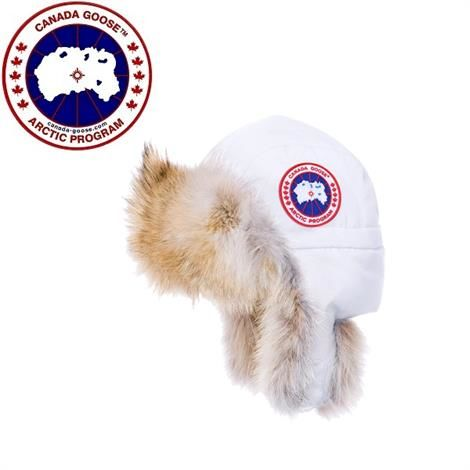 Image of   Canada Goose Aviator Hat, White