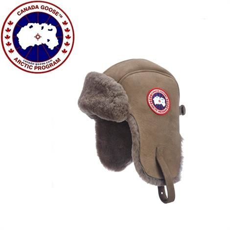 Image of   Canada Goose Suede Shearling Pilothat, Brown