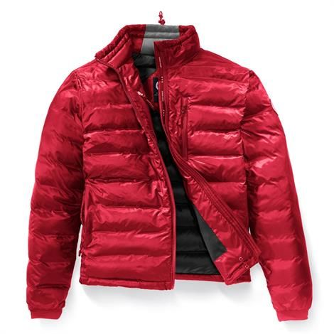Canada Goose Mens Lodge Jacket, Red / Black