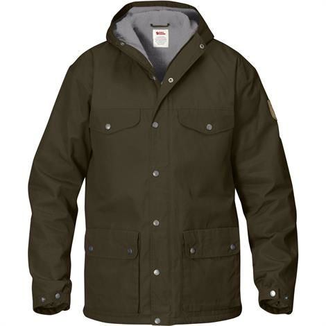Fjällräven Greenland Winter Jacket Mens, Dark Olive / Grey