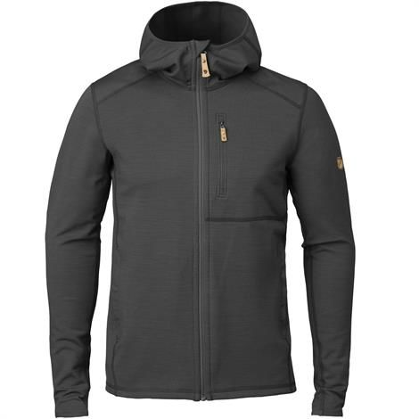 Image of   Fjällräven Keb Fleece Hoodie Mens, Dark Grey / Black