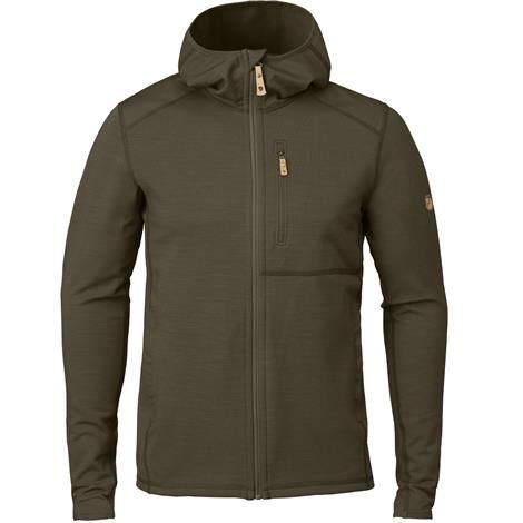 Image of   Fjällräven Keb Fleece Hoodie Mens, Dark Olive