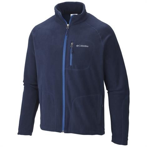 Columbia Mens Fast Trek II Full Zip Fleece, Navy
