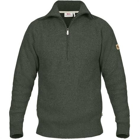 Image of   Fjällräven Greenland Re-Wool Sweater Mens, Deep Forest