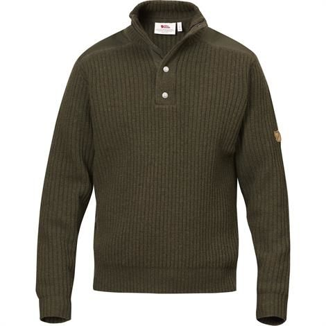 Image of   Fjällräven Värmland T-neck Sweater Mens, Dark Olive