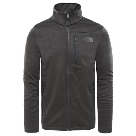 Image of   The North Face Mens Canyonlands Full Zip, Dark Grey Heather